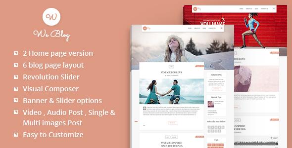 We Blog WordPress Theme