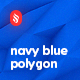 Navy Blue Polygonal Backgrounds - GraphicRiver Item for Sale