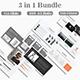 Phoenix 1.0 - 3 in 1 Bundle Multipupose Google Slide Template