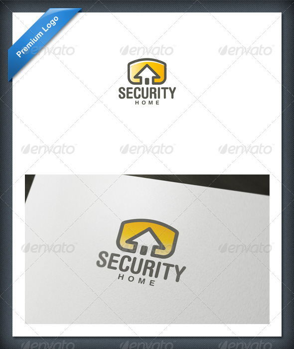 Security Home Logo Template - Buildings Logo Templates
