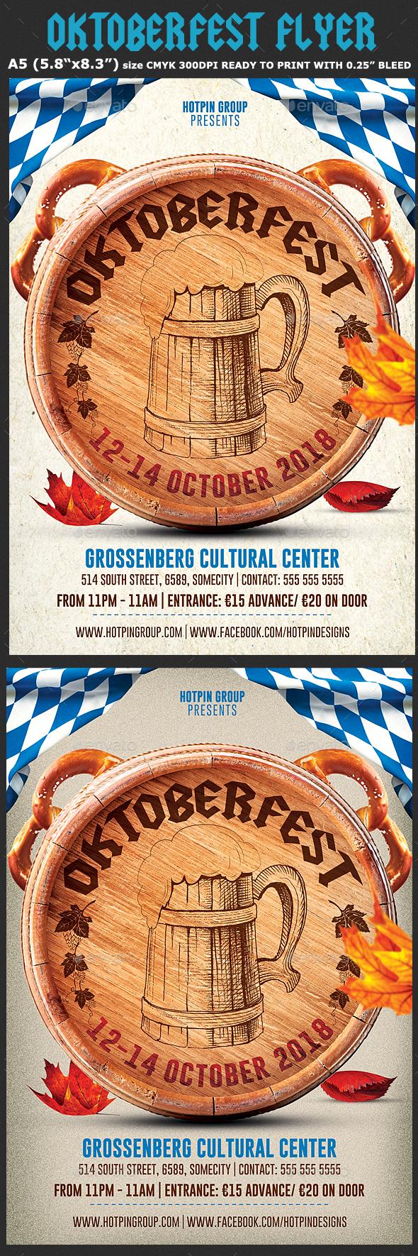 Oktoberfest Flyer Template 5 - Events Flyers