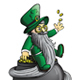 Leprechaun Sitting on a Pot of Gold