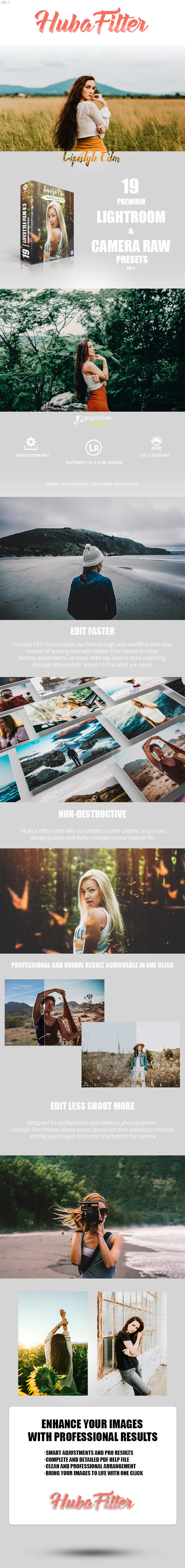 GraphicRiver 19 Lifestyle Film Vol.3 Lightroom & Camera Raw Presets 20549284