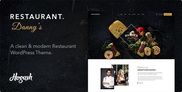 Restaurant Dannys | Restaurant and Cafe WordPress Theme - Restaurants & Cafes Entertainment
