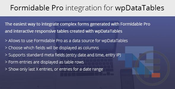 Formidable Forms integration for wpDataTables - CodeCanyon Item for Sale