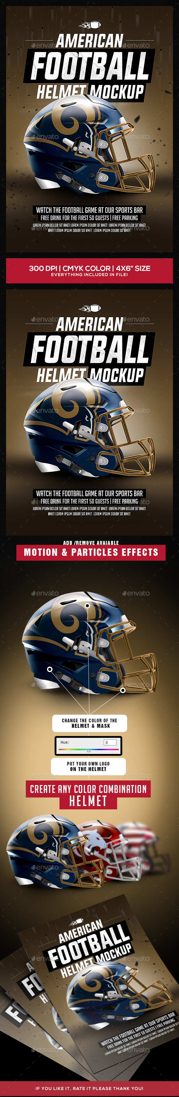 Football Helmet Mockup - Sports Events