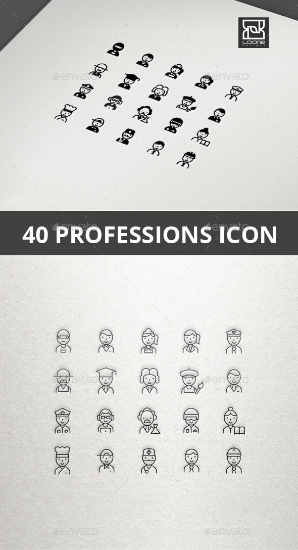 Profession Icons - People Characters