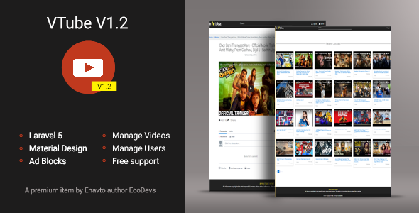 VTube v1.2 - Video Hosting & Sharing Script