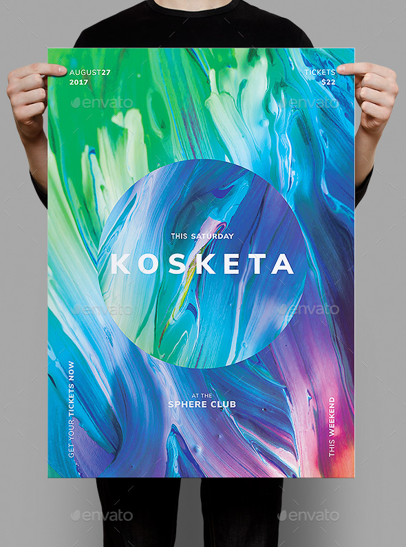 Kosketa Flyer / Poster Template - Clubs & Parties Events