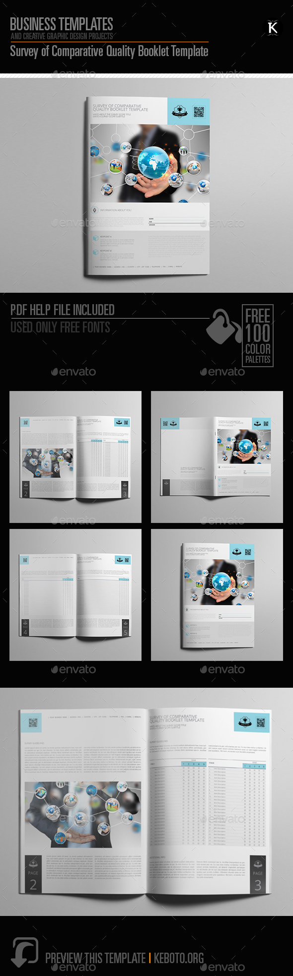 Survey of Comparative Quality Booklet Template - Miscellaneous Print Templates
