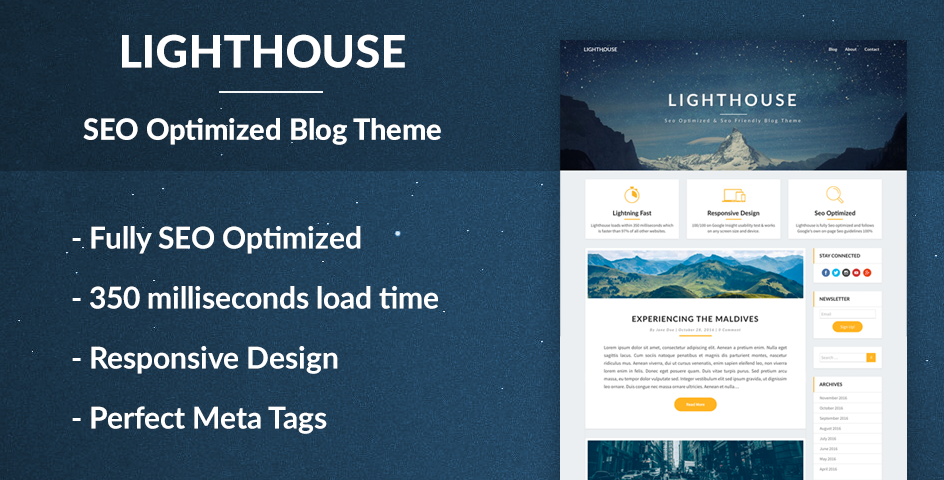 Lighthouse Blog - SEO Optimized and SEO Friendly Blogging Theme by ...