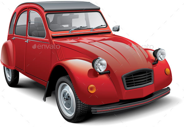 GraphicRiver Vintage Economy Car 20543001