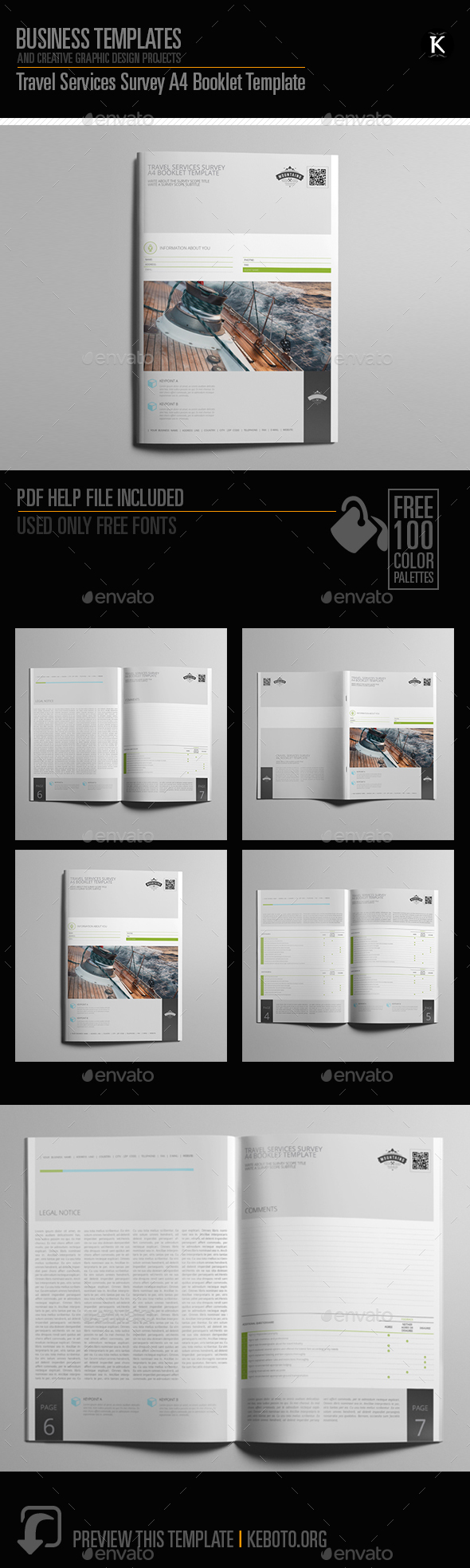 GraphicRiver Travel Services Survey A4 Booklet Template 20549846
