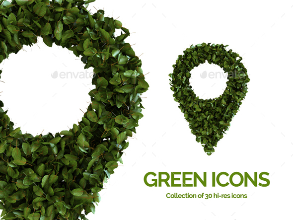 GraphicRiver Green 3D Icons 20549860