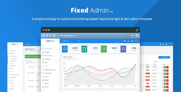 ThemeForest Fixed Admin Bootstrap Admin Dashboard Template 20419405