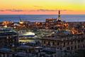 view of Genoa harbor at sunset - PhotoDune Item for Sale