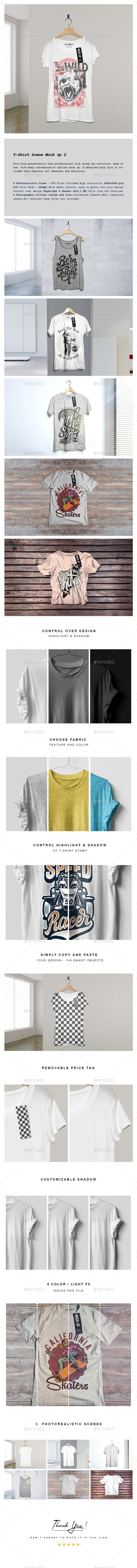 GraphicRiver T-Shirt Scene Mock-up 2 20549917