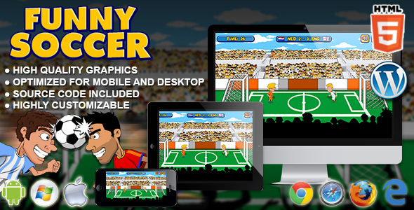 Funny Soccer - HTML5 Sport Game - CodeCanyon Item for Sale