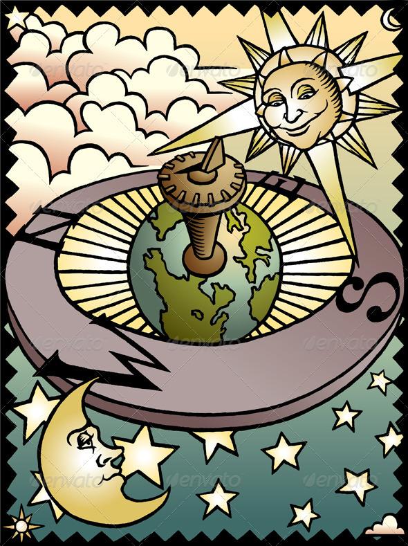Celestial Sundial - Miscellaneous Vectors