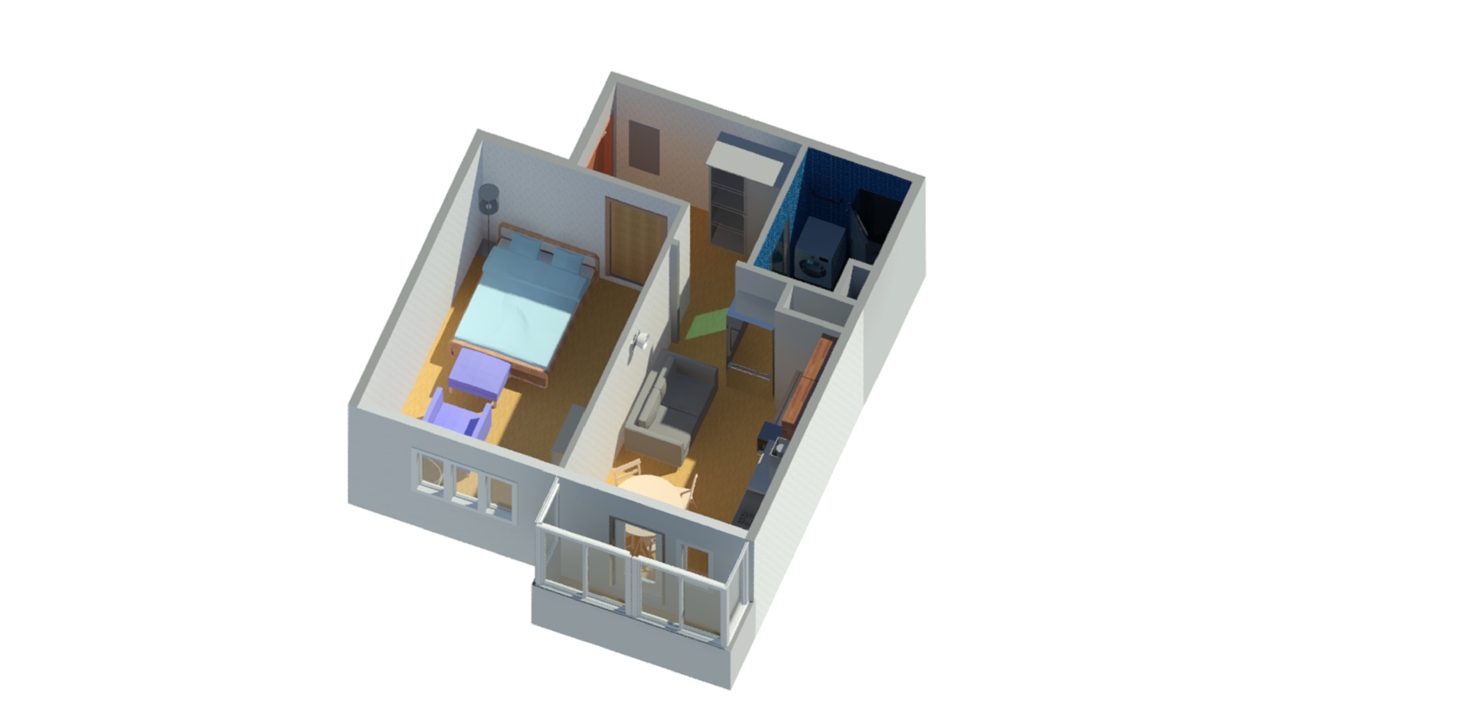Design project one-room apartment by ParaaBellum | 3DOcean