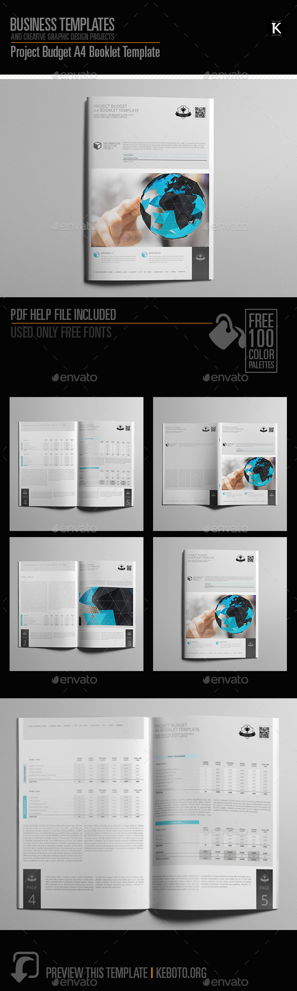Project Budget A4 Booklet Template   Miscellaneous Print Templates  Booklet Template