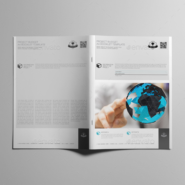 Project Budget A4 Booklet Template   Kfea 1 ...  Booklet Template