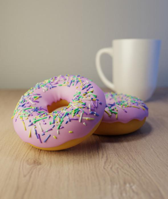 Donut Scene - 3DOcean Item for Sale