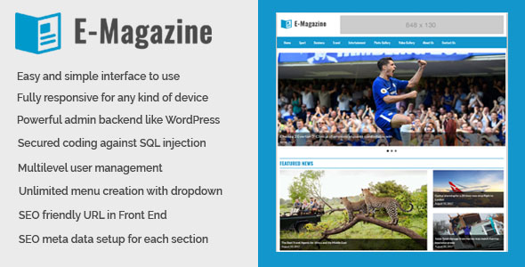 Source code              E-Magazine – Online Magazine and Newspaper Website CMS            nulled