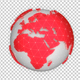Red News Globe Rotation - VideoHive Item for Sale