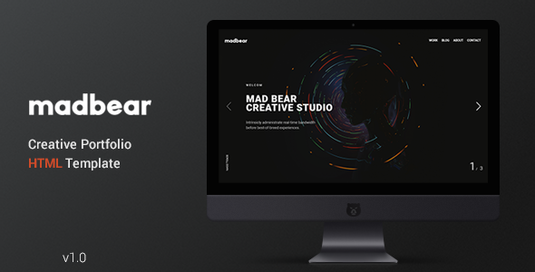 Mad Bear - Creative Portfolio Template - Creative Site Templates