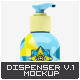 Cosmetic Bottle Dispenser Mock-Up V.1