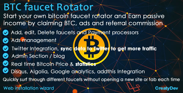 BTC Faucet Rotator – Earn Passive Cryptocurrency (Miscellaneous)