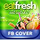 Fresh Restaurant Salads FB Cover - GraphicRiver Item for Sale