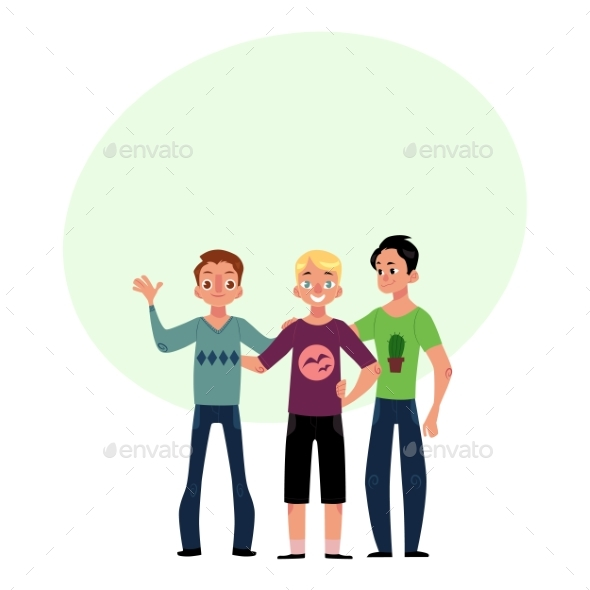 GraphicRiver Male Friendship Concept Two Couple of Boys Men 20550909