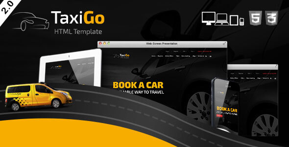 TaxiGo - Taxi Company & Cab Service Website Template - Retail Site Templates