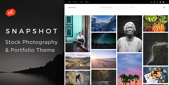 Snapshot – Stock Photography & Portfolio Theme (eCommerce) images