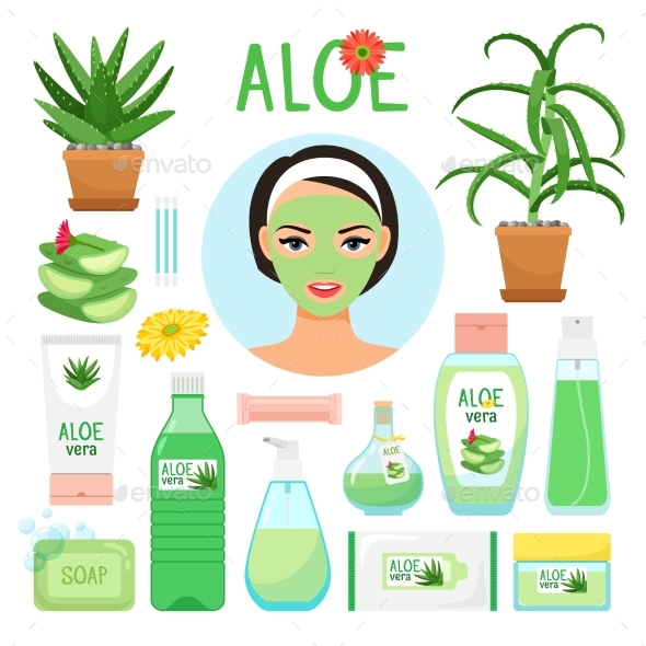 Aloe Vera Cosmetic Products - Man-made Objects Objects