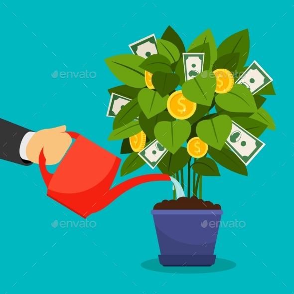 Growing Money Tree - Business Conceptual