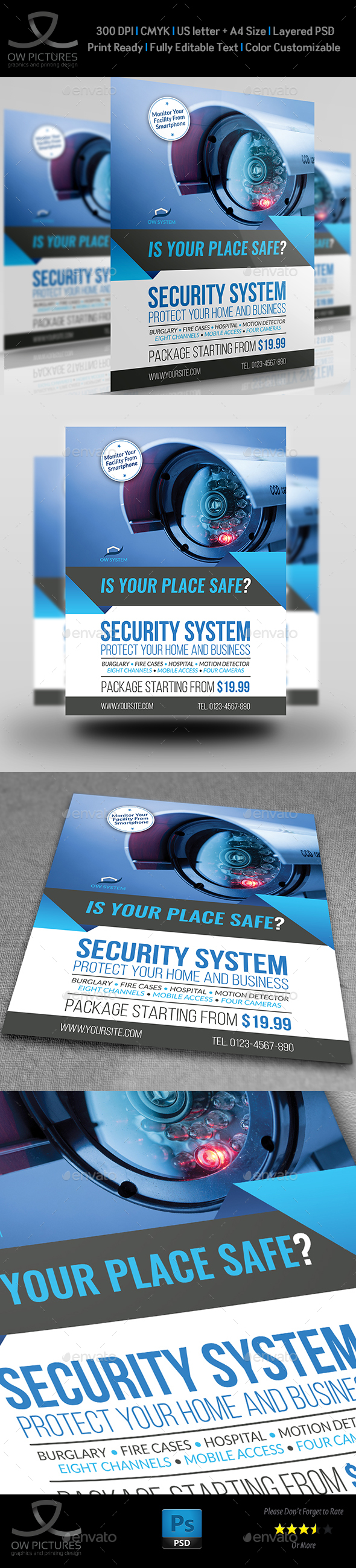 Security System Flyer Template Vol.3 - Commerce Flyers