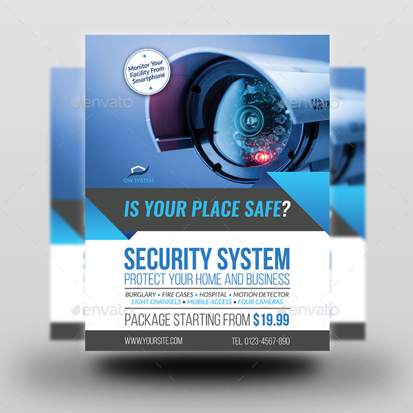 Security System Flyer Template Vol 3 By Owpictures Graphicriver