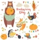Thanksgiving Set with Forest Animals