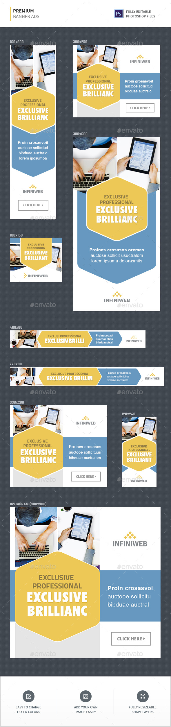 GraphicRiver Premium Banner Ads 20551290