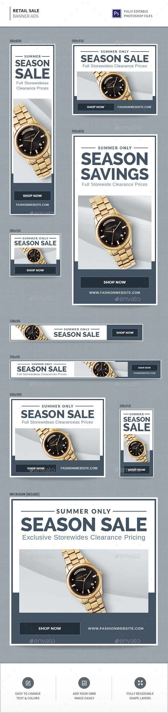 GraphicRiver Retail Sale Banners 20551313