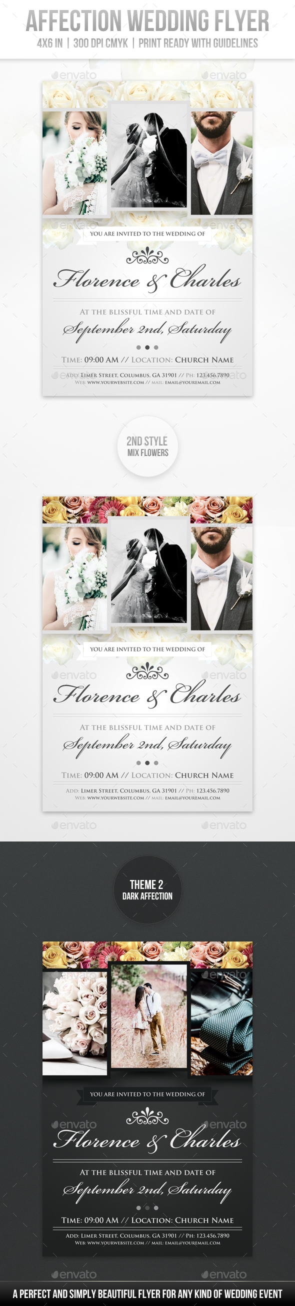 Affection Wedding Flyer - Miscellaneous Events