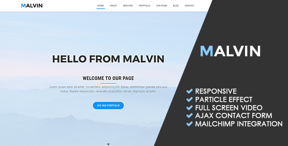 Malvin | Creative Multipurpose Template