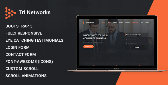 Download Tri Network - Multipurpose Bootstrap 3 Html Template