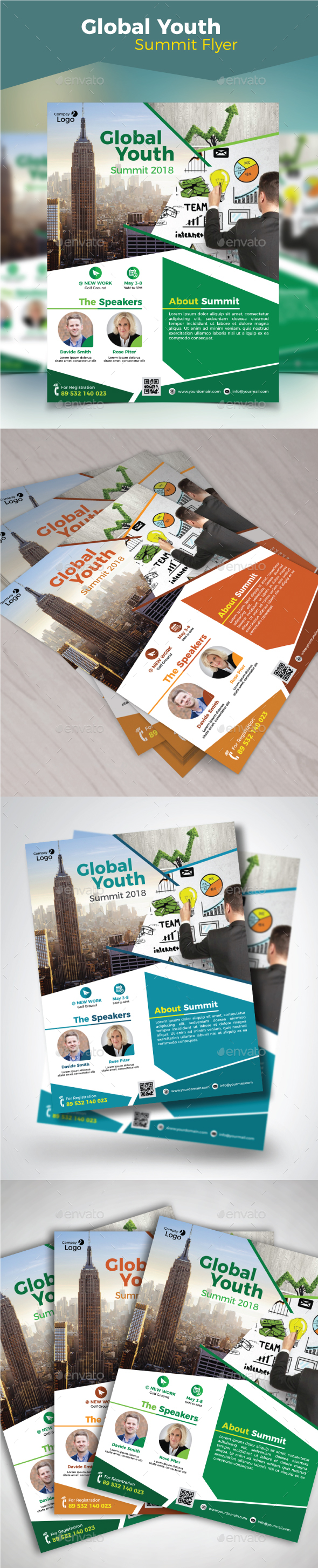 Global Youth Summit Flyer - Corporate Flyers