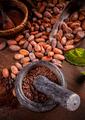 Ground cocoa beans