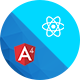 Material Design React Redux, Angular 4 Admin Web App with Html