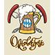 Beer Mug Oktoberfest Emblem